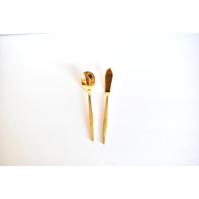 Mid-Century Modern 1960s Mid-Century Modern Gold Flatware Service for 8 - 50 Pieces Set For Sale - Image 3 of 11