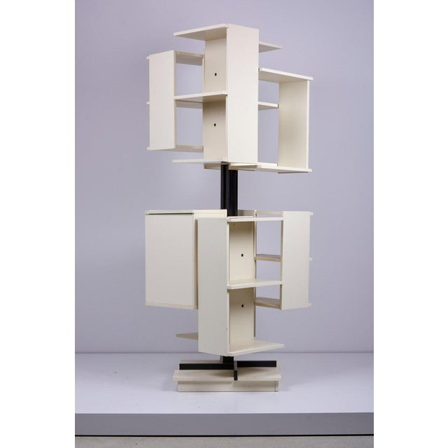 Sormani Rotating Wooden Bookshelf by Claudio Salocchi for Sormani, Italy For Sale - Image 4 of 10