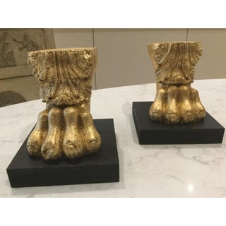 Neoclassical Lions Paw Sculptures - a Pair Preview