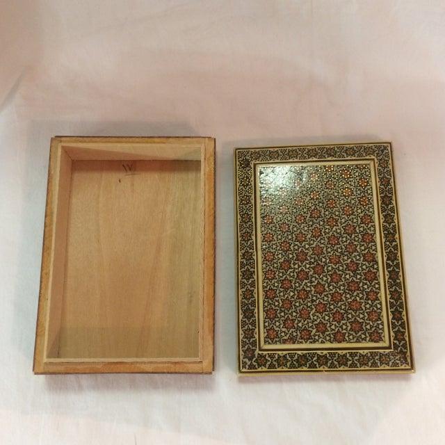 Persian Wood Inlay Box - Image 8 of 10