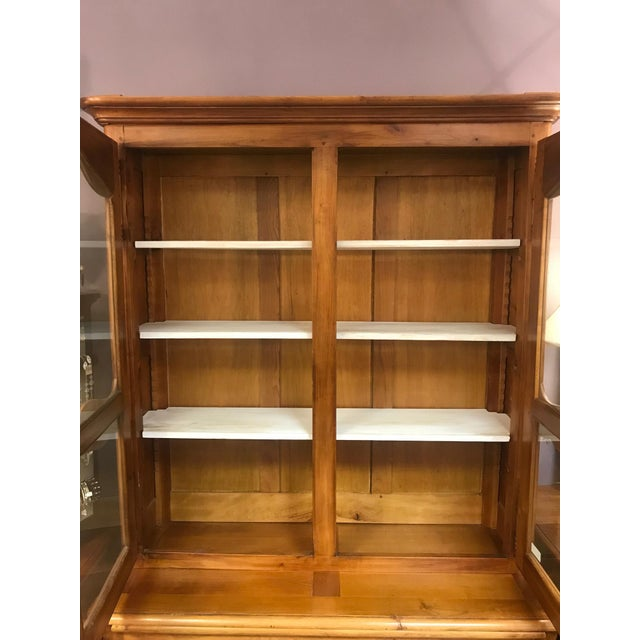 French Cherrywood & Glass Bookcase - Image 8 of 10