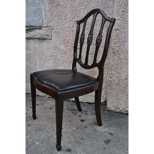 Mahogany English Hepplewhite Style Chairs- Set of 12 For Sale - Image 9 of 13