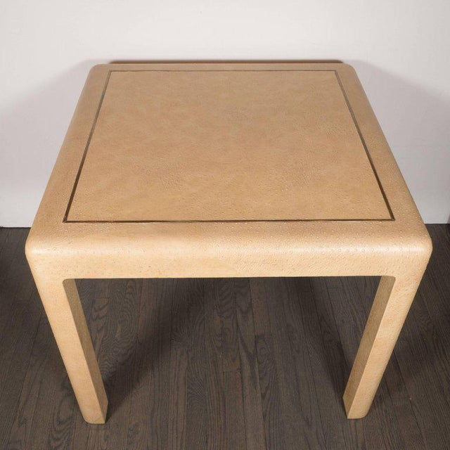 Signed Mid-Century Modern Ostrich Game Table by Karl Springer For Sale In New York - Image 6 of 11