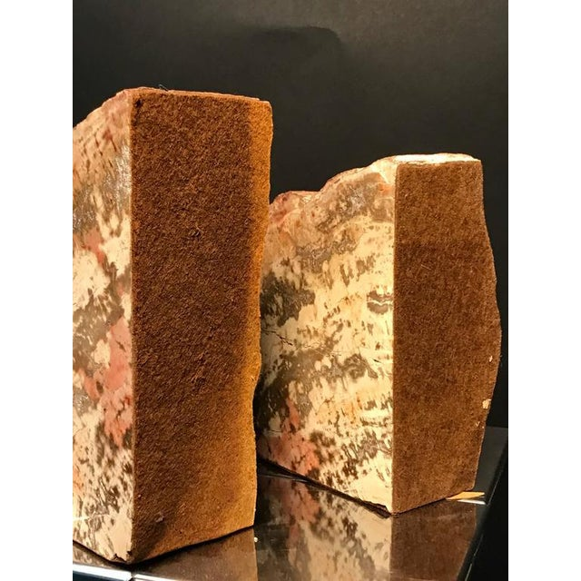 1960s Petrified Wood Bookends - a Pair For Sale - Image 5 of 8