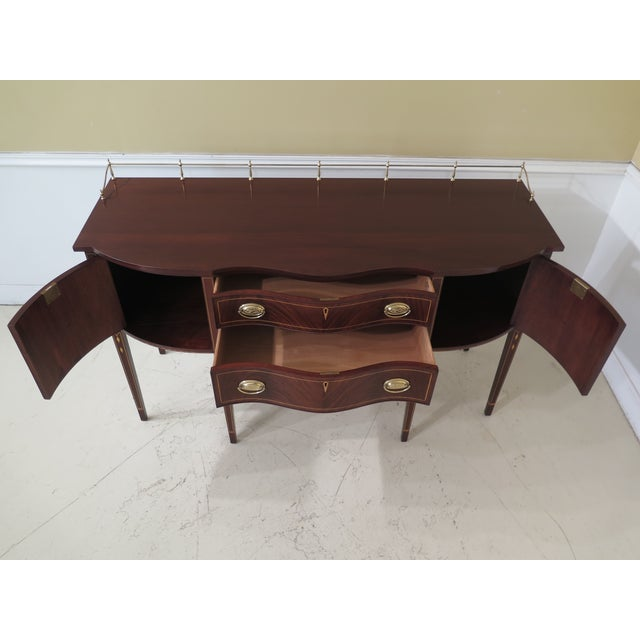 Wood 1980s Vintage Henkel Harris Mahogany 2367a Inlaid Sideboard For Sale - Image 7 of 13