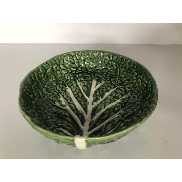 Vintage Faiancas Neto Cabbage Leaf Bowl For Sale - Image 4 of 8