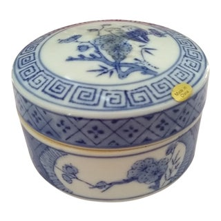 Vintage Chinese Ceramic Cylindrical Container For Sale