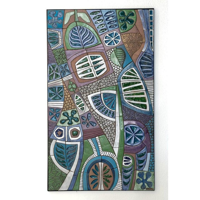 Ceramic Large Studio Ceramic Wall Relief by Brent Bennett For Sale - Image 7 of 9