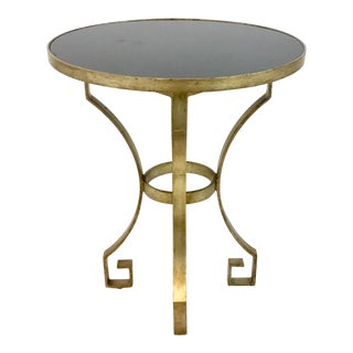 Pearson Black and Champagne Greek Key Accent Table For Sale