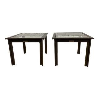 Richard Frinier Outdoors Brown Jordan Side Tables - a Pair For Sale