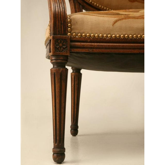 Louis XVI Aubusson Upholstered Settee - Image 4 of 11