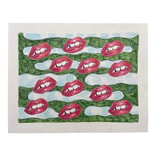 """Hot Lips"" Drawing For Sale"
