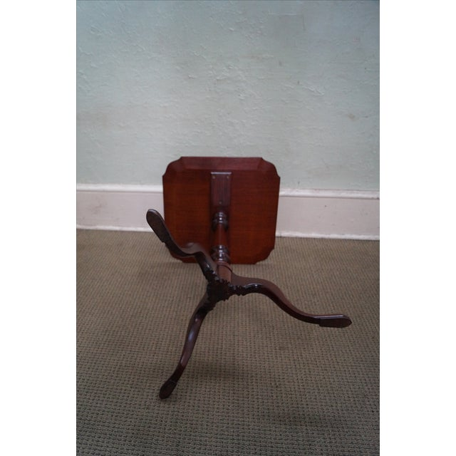 Nathan Margolis Hand Crafted Mahogany Side Table For Sale - Image 5 of 10