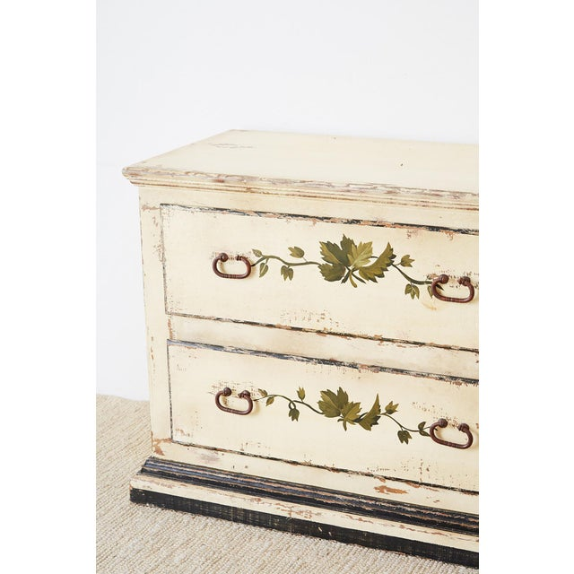 Early 20th Century Country Italian Painted Four-Drawer Commode or Sideboard For Sale - Image 5 of 13