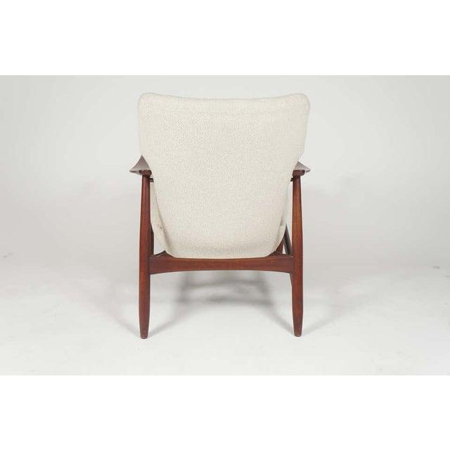 Ib Kofod-Larsen Sculptural Ib Kofod Larsen Midcentury Teak Frame Lounge Armchair From Denmark For Sale - Image 4 of 8