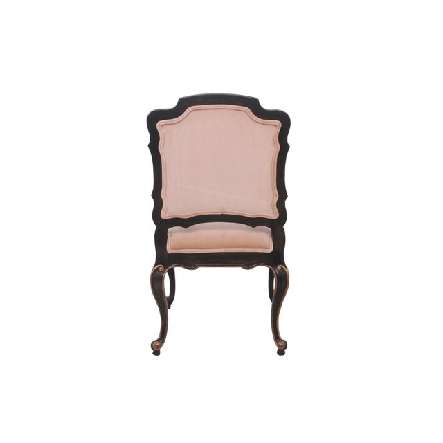 Fabric Late 20th Century Blush Velvet Louis XV Style Fauteuils- A Pair For Sale - Image 7 of 9