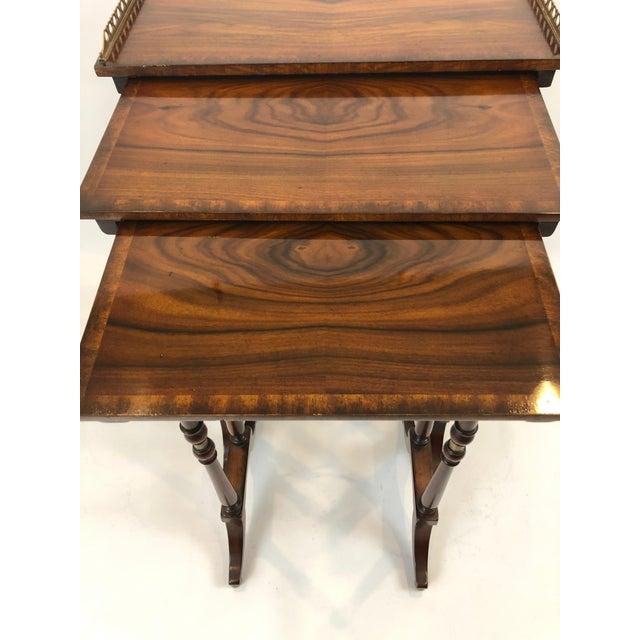 Theodore Alexander Regency Zebra Wood Nesting Tables - Set of 3 For Sale - Image 4 of 13