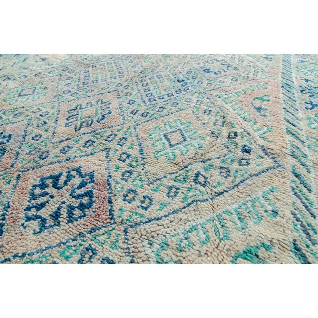 "Vintage Moroccan Boujad Boujad Rug Carpet Berber - 11'5"" x 6'3"" For Sale - Image 10 of 10"