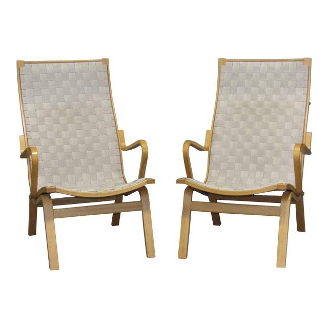 Beech Armchairs by Finn Østergaard- a Pair For Sale