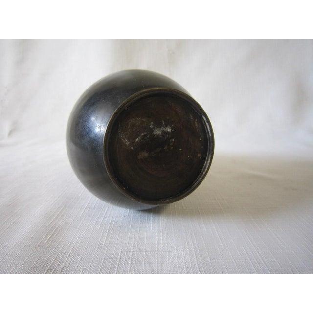 Asian Vintage Japanese Bronze Vase For Sale - Image 3 of 4
