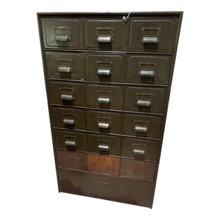 Industrial Metal File Cabinet For Sale