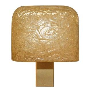 Vintage Modernist Cubist Sconce by Aqua Signal For Sale
