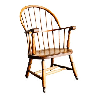 19th Century Windsor Rustic American Armchair For Sale