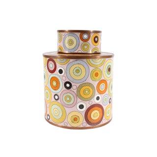 Fabienne Jouvin Paris French Rhondo Cloisonné Enamel Tea Caddy For Sale