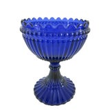 Image of Late 19th Century Vintage Cobalt Blue Victorian Press Glass Compote For Sale