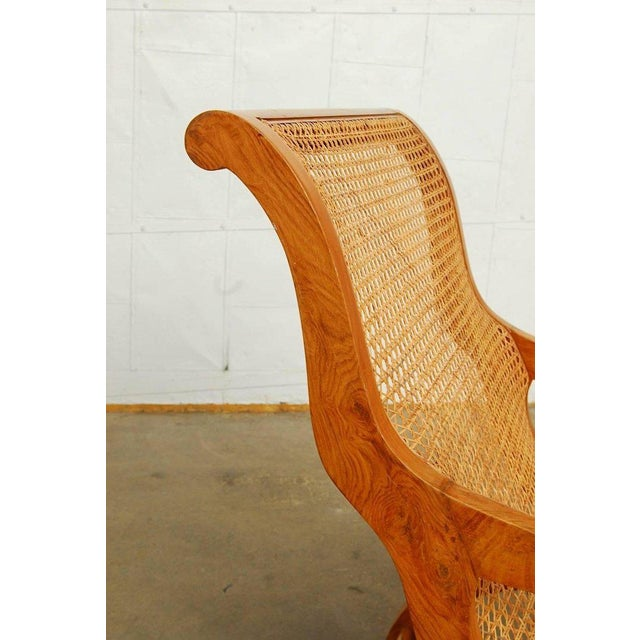 Anglo-Indian Teak and Cane Plantation Chair For Sale - Image 12 of 13