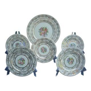 Traditional Dessert Set - Set of 6 For Sale