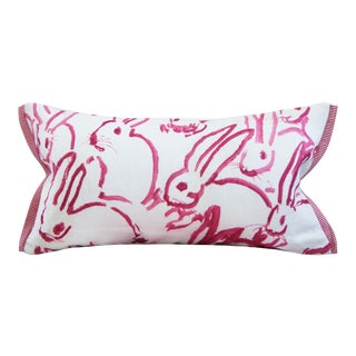 Bunny Hutch in Pink Lumbar Pillow Cover Lee Jofa Groundworks For Sale