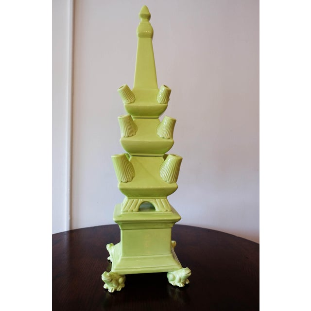 This stunning tiered tower of three vases was inspired by the Tulipiere's of the 17th century, when exotic imported...