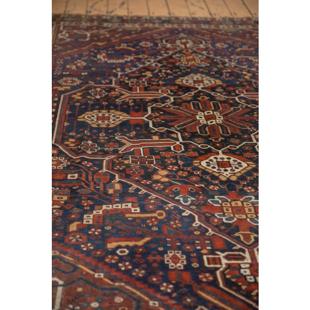 "Vintage Shiraz Carpet - 7'3"" X 10'2"" For Sale - Image 10 of 13"