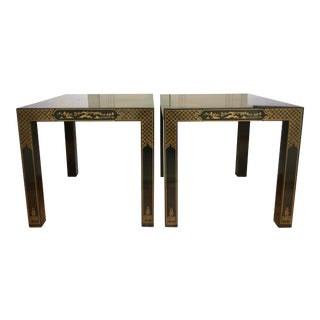 Hollywood Regency Drexel Heritage Et Cetera Side Tables - a Pair For Sale