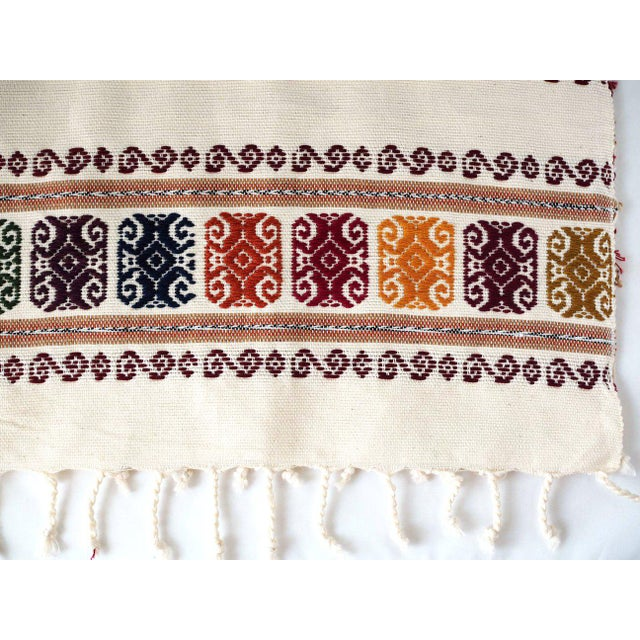Boho Chic San Miguel Embroidered Table Runner For Sale - Image 3 of 4