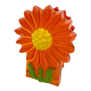 Vintage Resin Flower Napkin Holder For Sale