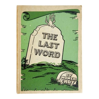 Last Word by Homer Croy Book For Sale