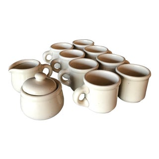 Japanese Stoneware Coffee Set - 10 Piece Set