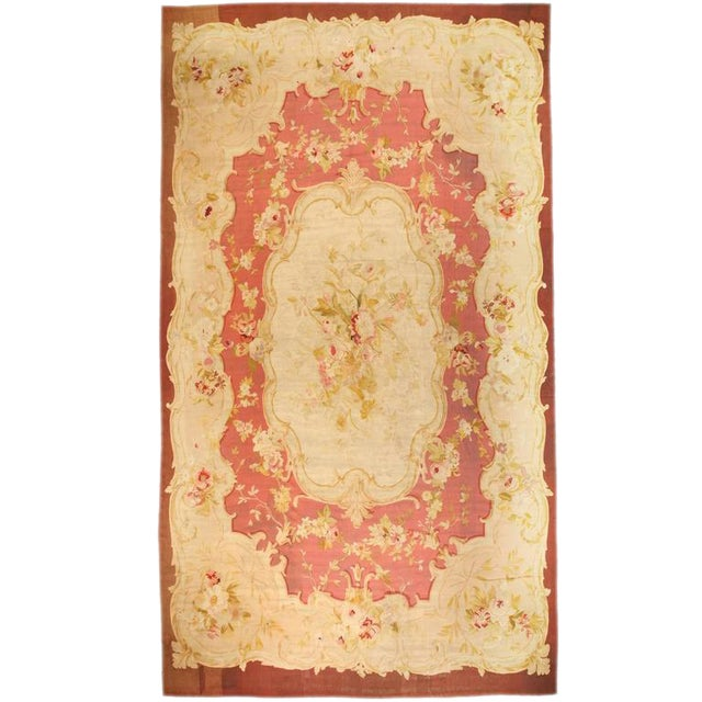 Antique Oversize 19th Century, French Aubusson Carpet - Image 1 of 2