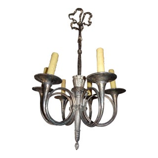 French Silvered Bronze Chandelier For Sale