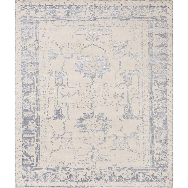 Pasargad's Silk Fusion Silk & Wool Rug - 6' X 9' - Image 1 of 5