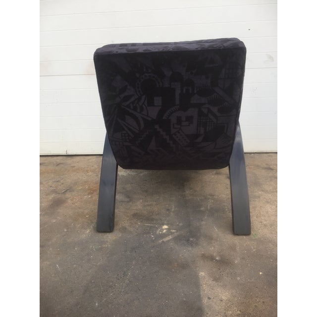 Textile Mid-Century Abstract Upholstered Lounge Chair For Sale - Image 7 of 8