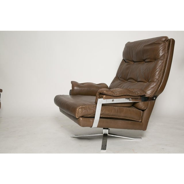 Arne Norell Arne Norell Leather Club Chairs - Set of 2 For Sale - Image 4 of 9