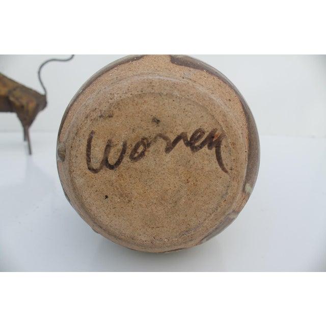 Studio Pottery Drip Glaze Bud Vase by Wonen For Sale - Image 7 of 8