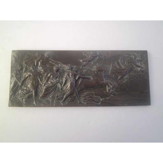 Neoclassical Bronzed Relief R.O. Prof. G. Gambogi For Sale - Image 7 of 10