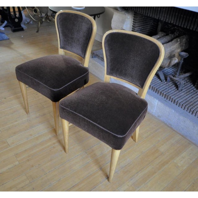 """Jean Royere Documented Pair of Chairs Model """"Restaurant Drouant"""" For Sale - Image 6 of 9"""