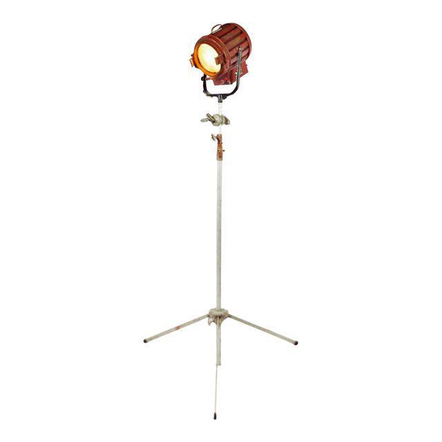 Vintage Mole Richardson Professional Studio Stage Spotlight Industrial Floor Lamp with Boom Attachment - Image 11 of 11