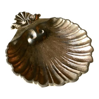 Vintage Small Brass Scallop Seashell-Shaped Tray | Jewelry or Trinket Dish