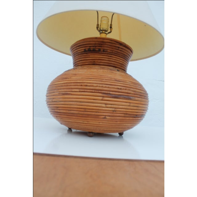 Vintage Pencil Reed Jar Table Lamp For Sale - Image 4 of 9